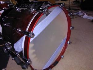 Bass-Drum Schlagseite